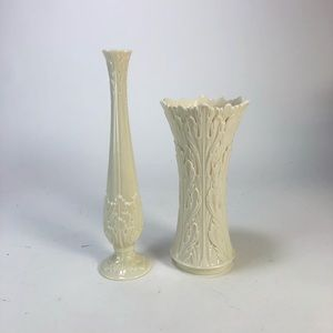 Lot of 2 vintage Lenox porcelain vases